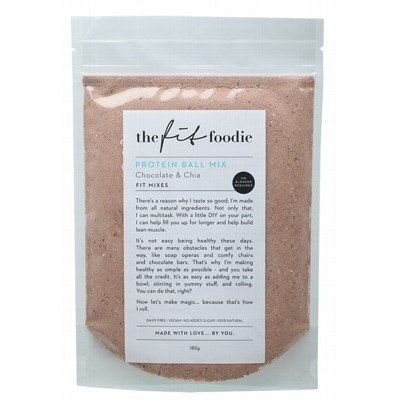 THE FIT FOODIE Protein Ball Mix Chocolate & Chia 185g