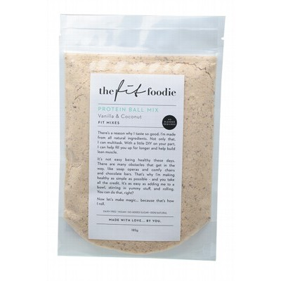 THE FIT FOODIE Protein Ball Mix Vanilla & Coconut 185g
