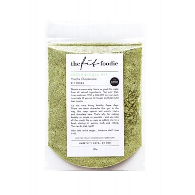 THE FIT FOODIE Protein Ball Mixes Matcha Cheesecake - 185g