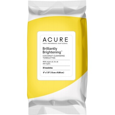 ACURE Brilliantly Brightening Coconut Towelettes x 30